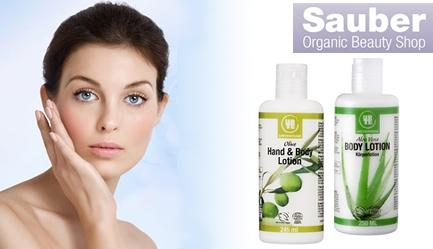 Ai grija de tine si familia ta cu <b>produse 100% naturale, fara ingrediente chimice</b>! Cu 2 RON ai <b>55% REDUCERE</b> la <b>lotiunile de corp organice / BIO din gama Urtekram</b>, certificata ECOCERT, de pe <b>www.sauber.ro</b>. <b>BONUS:</b> 30% reducere pentru achizitionarea de cosmetice organice / BIO la gamele Urtekram, Lavera, Alepp, Alqvimia, Kae, Skin Blossom, Fushi, Poza 2